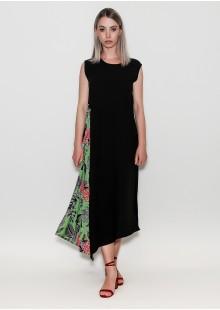 A mix print black Dress MIN-full-1-